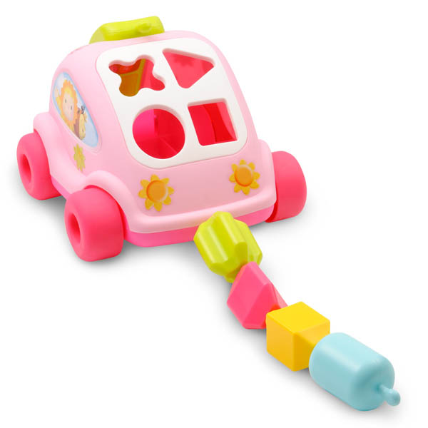 Smoby Cotoons Pink Car Shape Sorter Toy - Click Image to Close