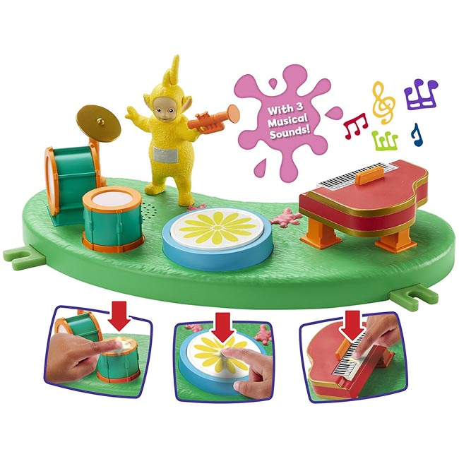 Teletubbies Music Day Playset with Sound Effects and Laa Laa