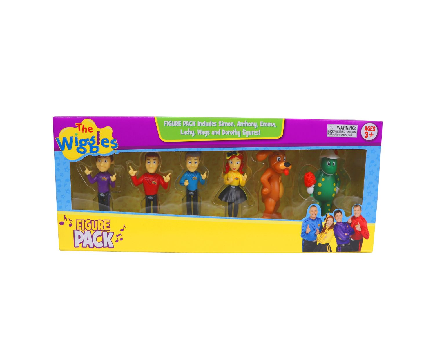 The Wiggles 6 Figure Pack Play Set Cake Topper Decorations
