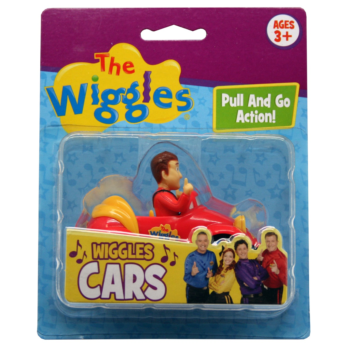 The Wiggles Pullback Pull & Go Action Red Car with Simon