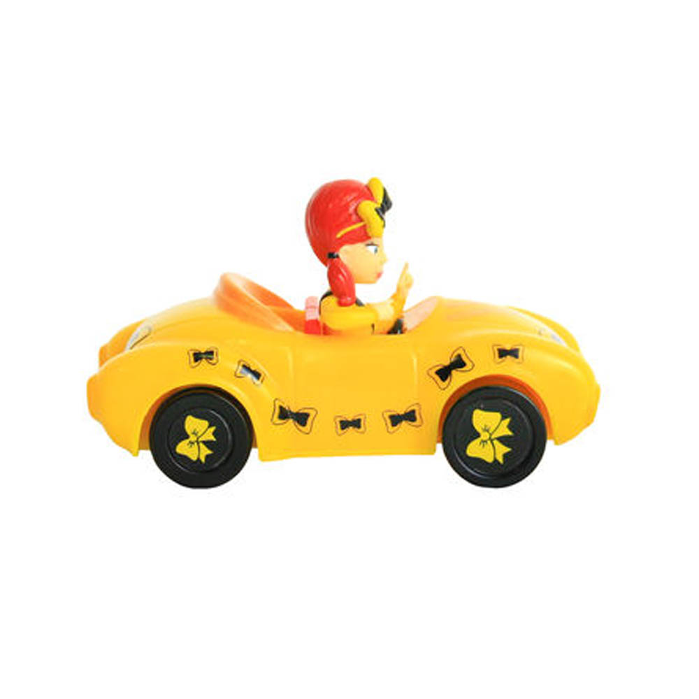 The Wiggles Pullback Pull & Go Action Yellow Car with Emma