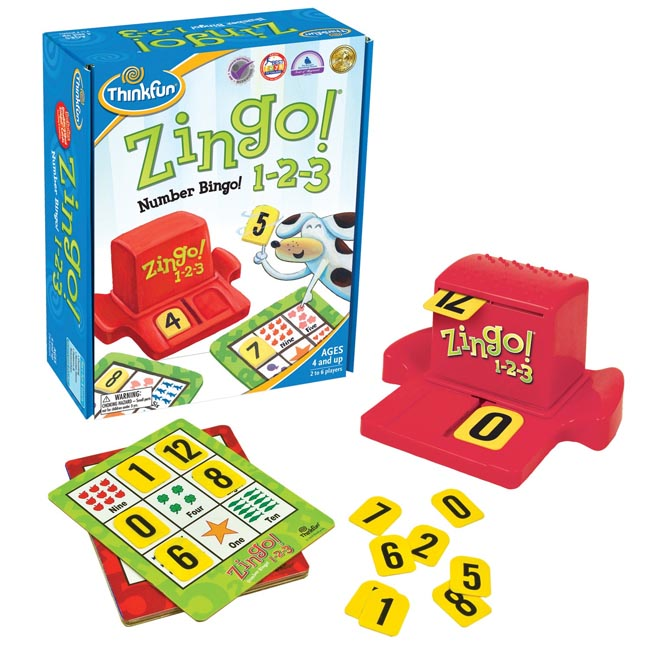ThinkFun Zingo Number Bingo 123 1-2-3 Game
