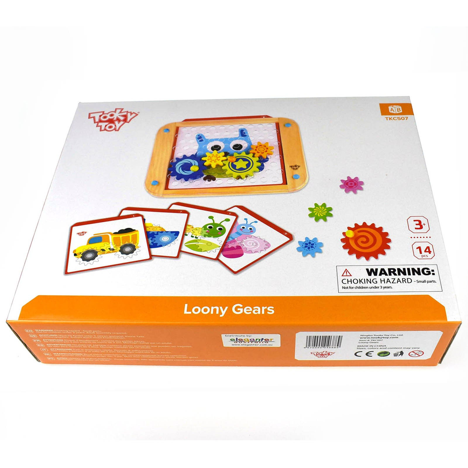 Tooky Toy Wooden Loony Gears Spinning Gears Activity Playset