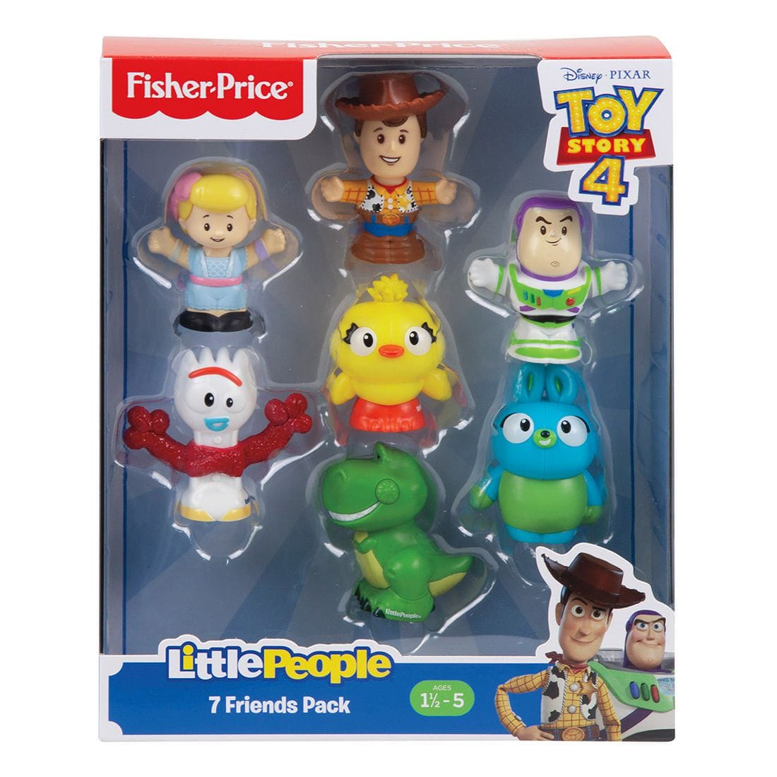 Toy Story 4 Fisher Price Little People Friends Pack Woody Buzz