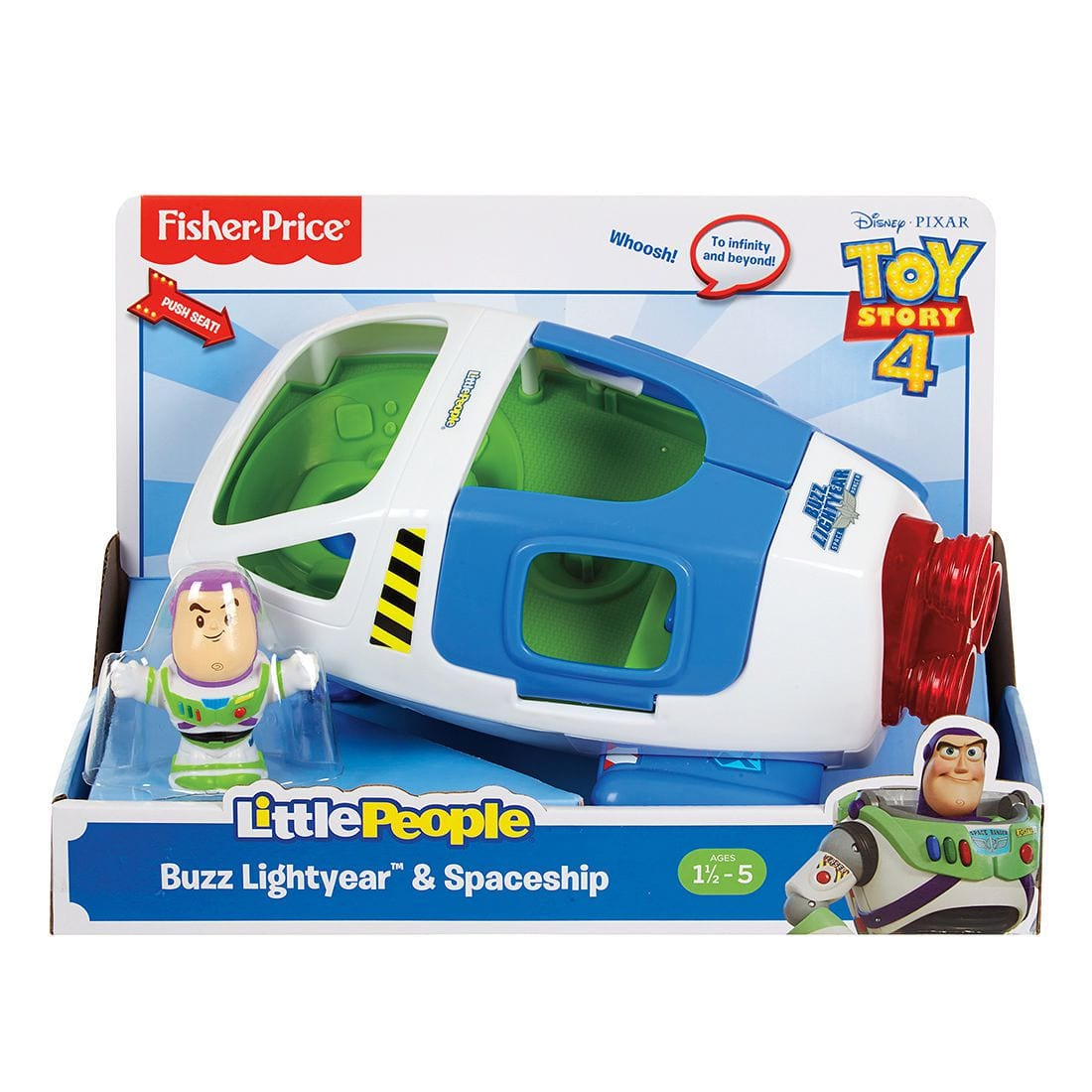 Toy Story 4 Fisher Price Little People Talking Buzz & Spaceship