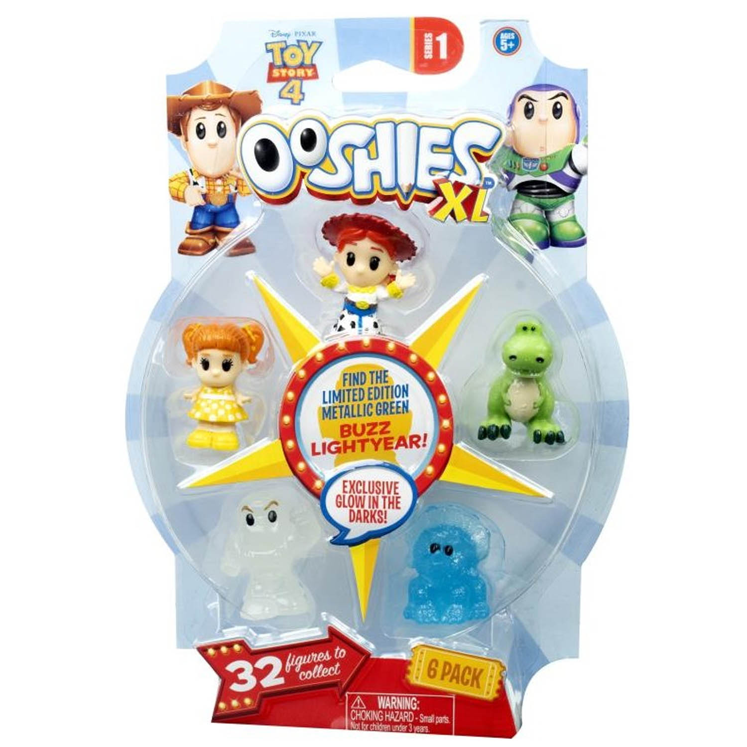 Disney Toy Story 4 Ooshies XL Series 1 6 Pack Jessie Rex Trixie