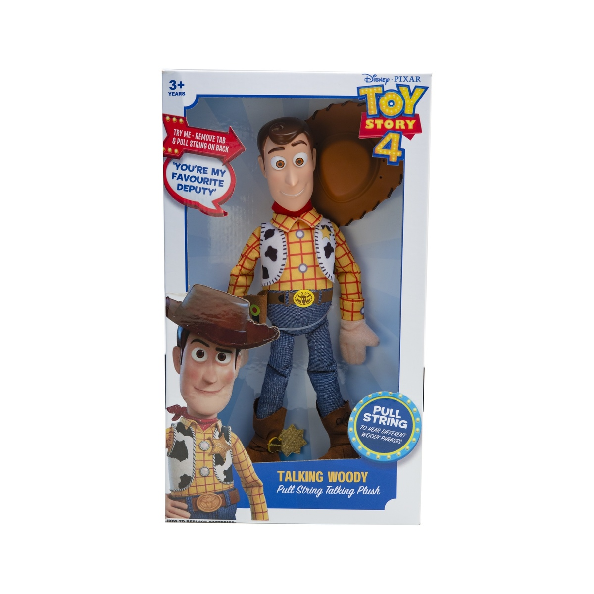 Toy Story 4 Pull String Plush Talking Woody