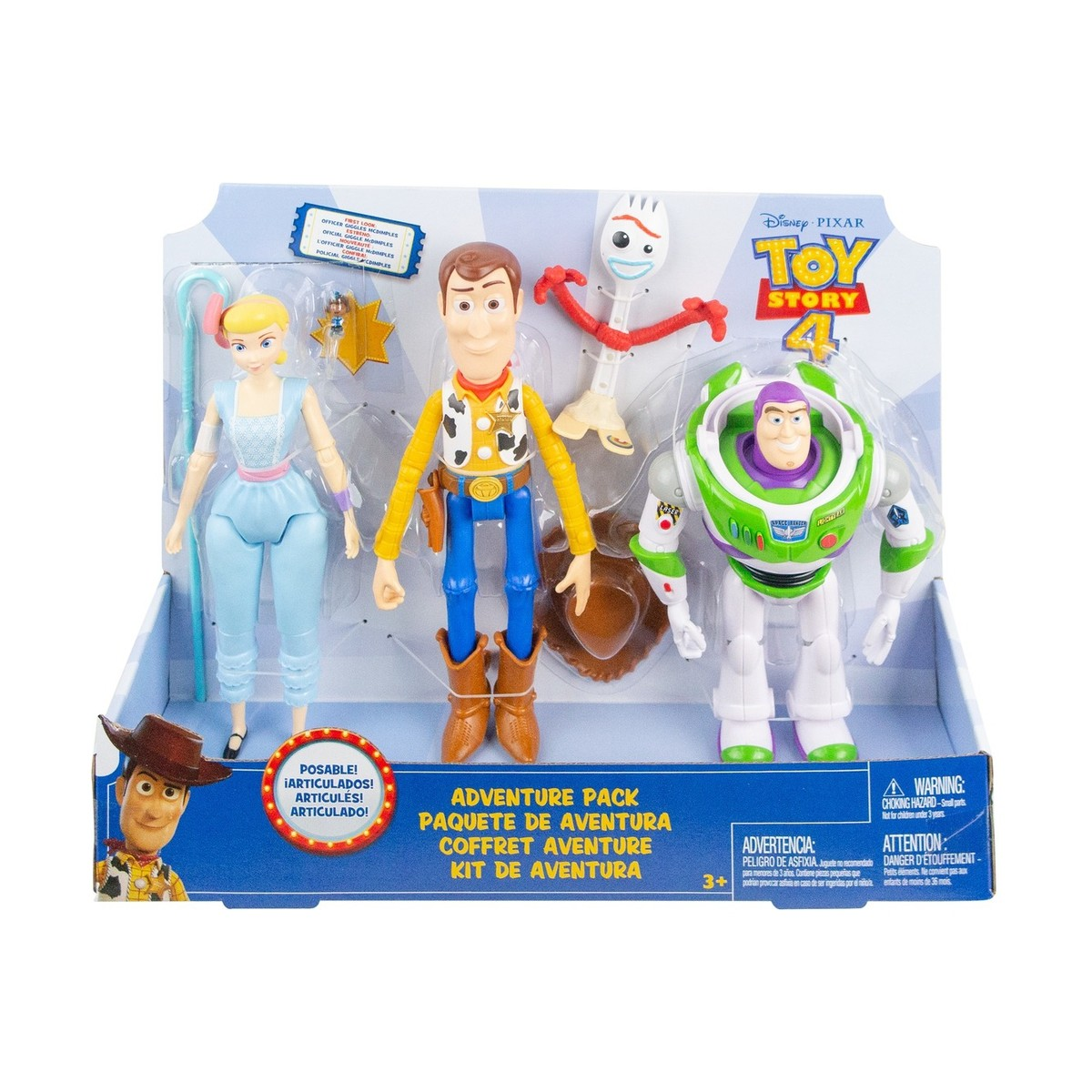 Toy Story 4 Adventure Pack With Woody Buzz & Bo Peep